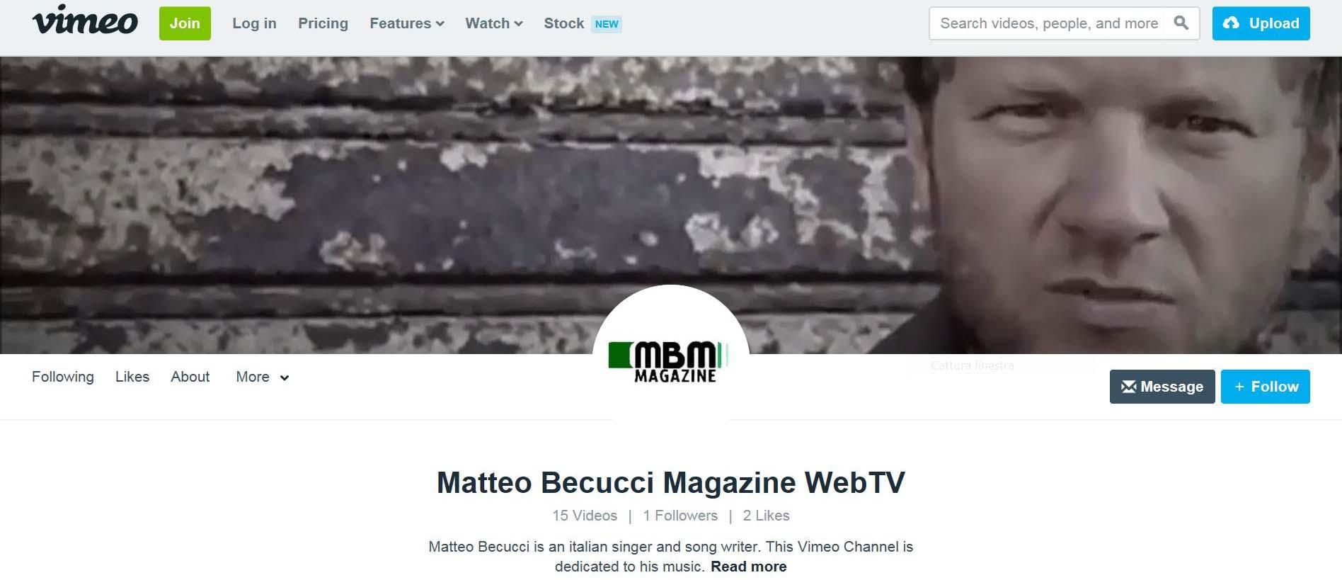 Matteo Becucci Magazine WebTV on Vimeo